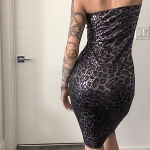 Purple Anaconda Dress
